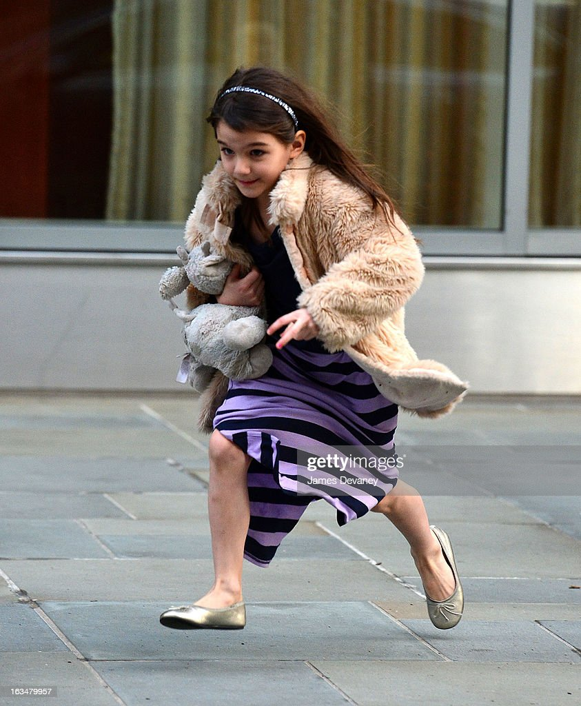 Suri Cruise seen on the streets of Manhattan on March 10, 2013 in New York City.