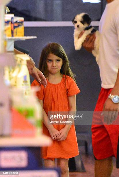 Suri Cruise shops for a puppy at Citi Pups pet store but leaves the store without buying one on July 14 2012 in New York City