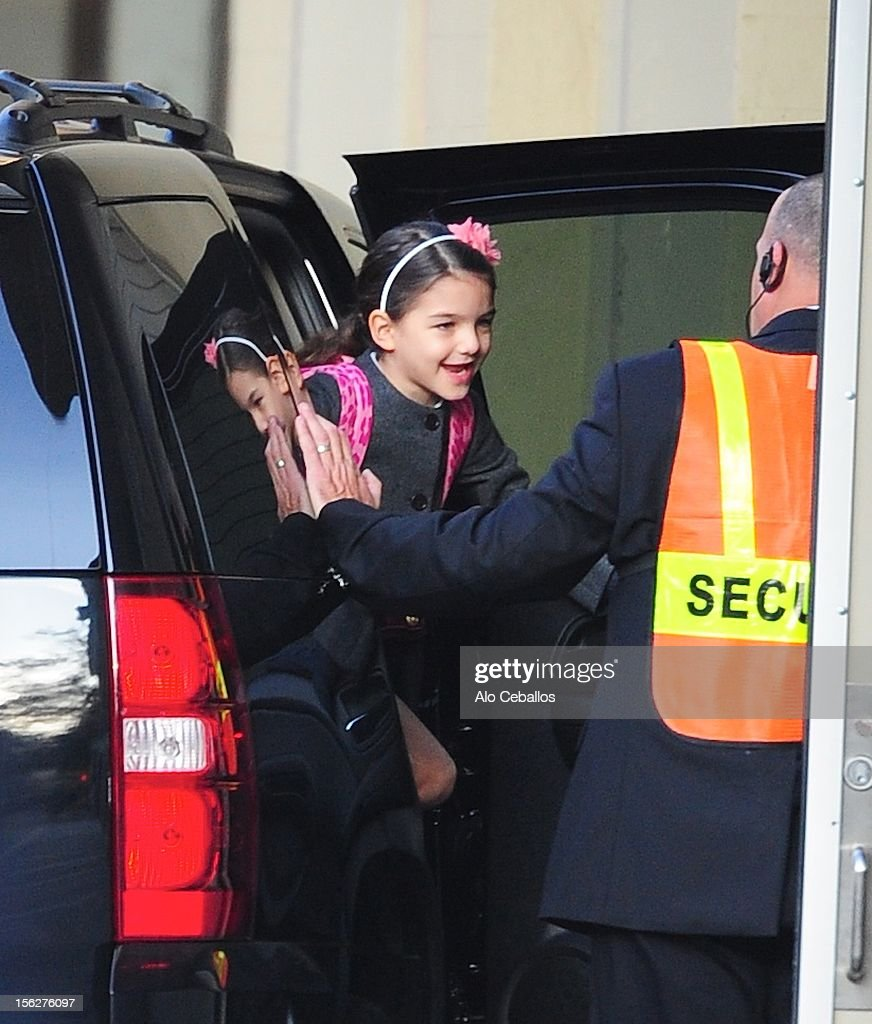 <a gi-track='captionPersonalityLinkClicked' href=/galleries/search?phrase=Suri+Cruise&family=editorial&specificpeople=4029470 ng-click='$event.stopPropagation()'>Suri Cruise</a> sighting on the streets of Manhattan on November 12, 2012 in New York City.