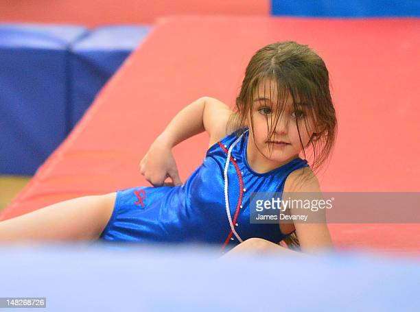 Suri Cruise visits Chelsea Piers on July 12 2012 in New York City