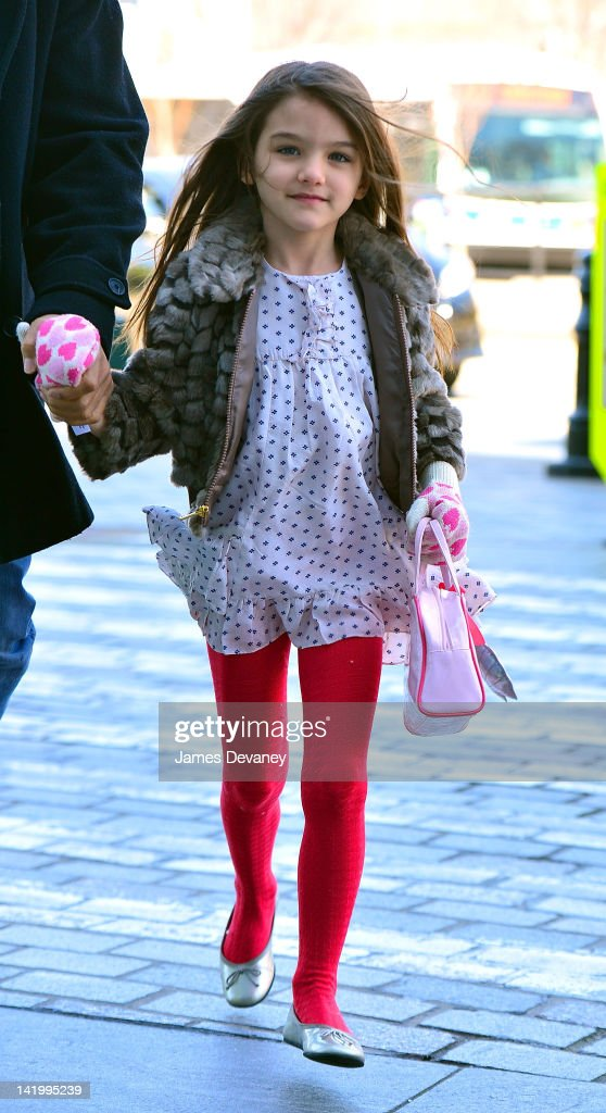 Katie Holmes And Suri Cruise Sightings In New York City - March 27, 2012