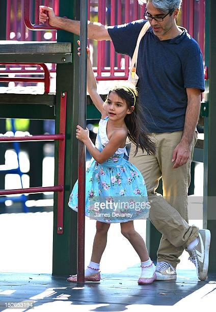 Suri Cruise visits McCarren Park in Brooklyn on September 23 2012 in New York City