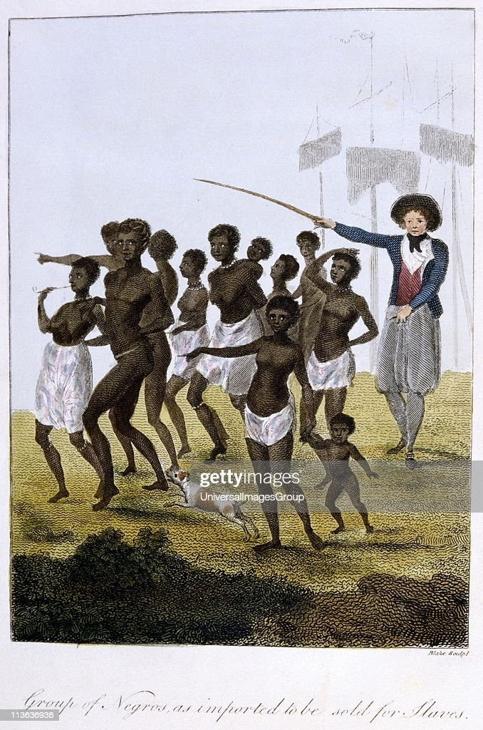 Surinam, South America, 1772-77. Group of newly arrived ...