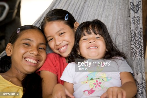 'Suriname, Galibi.  Children in Hammock.'
