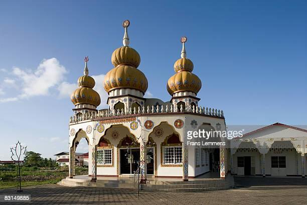 Suriname, Paramaribo, Hindu temple.