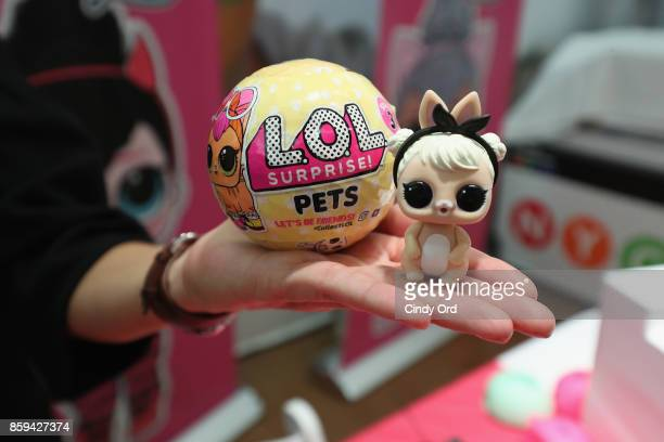 L Surprise toys on display during the launch of the LOL Surprise Unboxing Video Booth and LOL Surprise Pets hosted by Hilaria Baldwin at Toys 'R' Us...