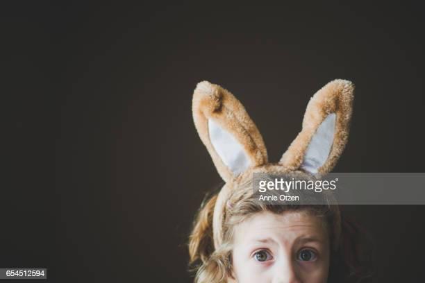 Surprised Bunny little Girl Bunny