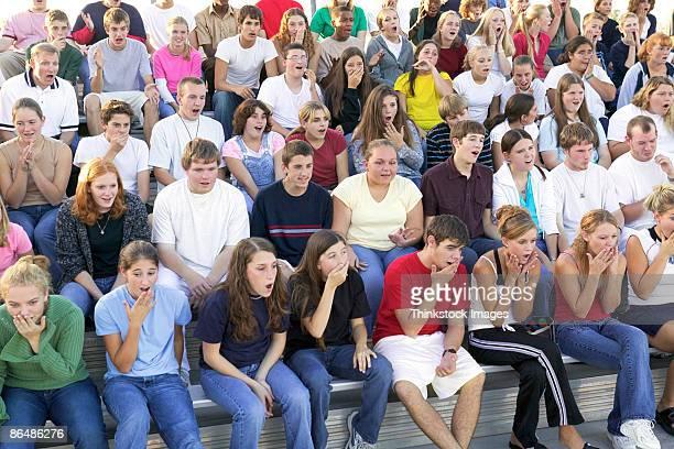 Surprised crowd