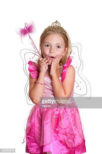 Surprised fairy princess.