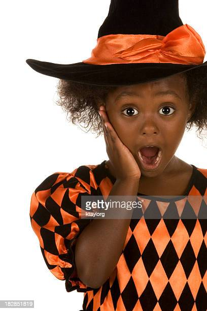 Surprised little witch