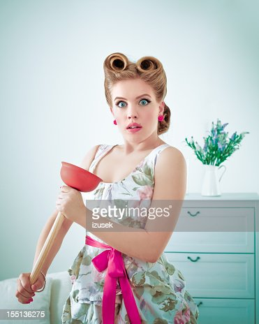 Woman With A Plunger 8