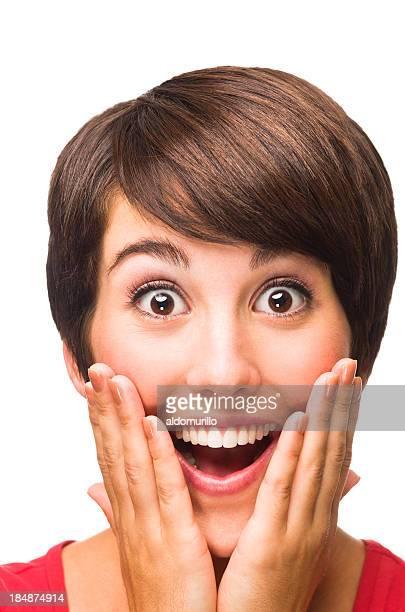 Surpris jeune femme