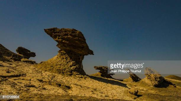 Surreal Landscape at Night in a Remote Area of Qeshm Island, Persian Gulf, Hormozgan Province, Southern Iran