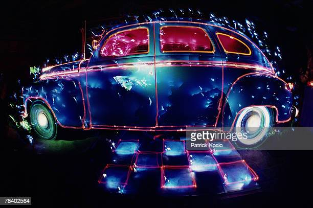Surreal vintage automobile