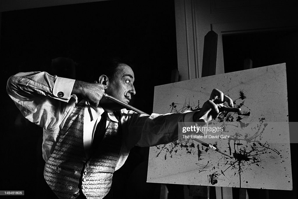 Surrealist artist Salvador Dali poses for a portrait in February 1962 at the St. Regis Hotel in New York City, New York.