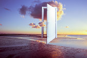 surrealistic door to freedom