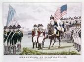 'Surrender of Cornwallis' Yorktown Virginia 1781 British commander General Charles Cornwallis surrendering to the colonists after the Battle of...