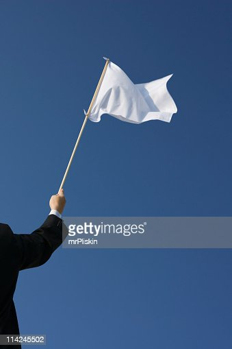 Surrender – Waving the white flag