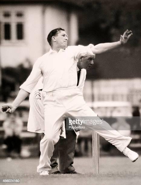Surrey and England bowler Jim Laker circa 1954
