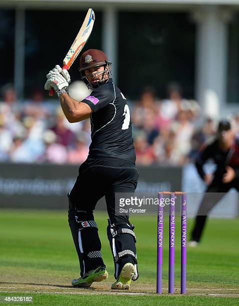 Surrey batsman Ben Foakes picks up some runs during the Royal London OneDay Cup match between Somerset and Surrey at The County Ground on August 17...