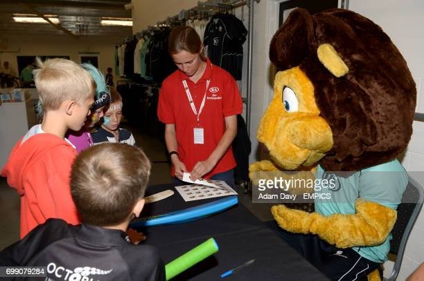 Surrey club mascot Caesar the Lion during the Family Day