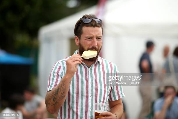 A Surrey fan with an ice cream at Guildford Cricket Club