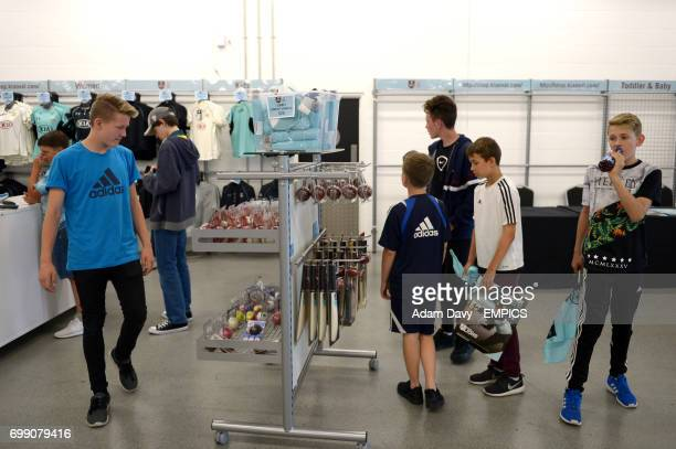 Surrey fans in the club shop at the Kia Oval