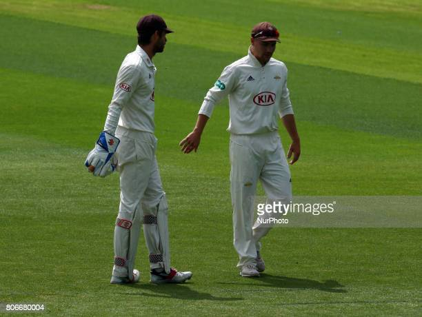 Surrey's Rory Burns during the Specsavers County Championship Division One match between Surrey and Hampshire at The Kia Oval Ground in London on...
