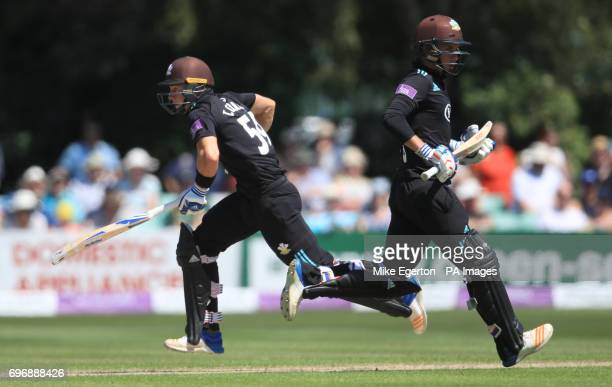 Surrey's Sam and brother Tom Curran during the Royal London One Day Cup Semi Final match at New Road Worcester