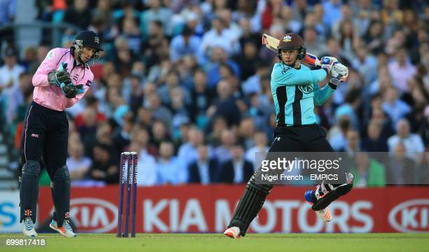 Surrey's Sam Curran bats against Middlesex