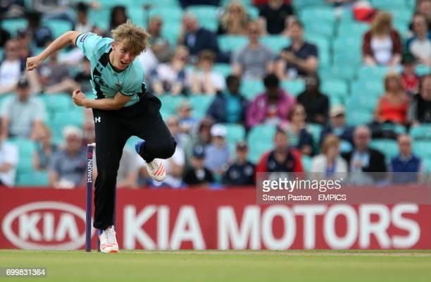 Surrey's Sam Curran bowling against Essex