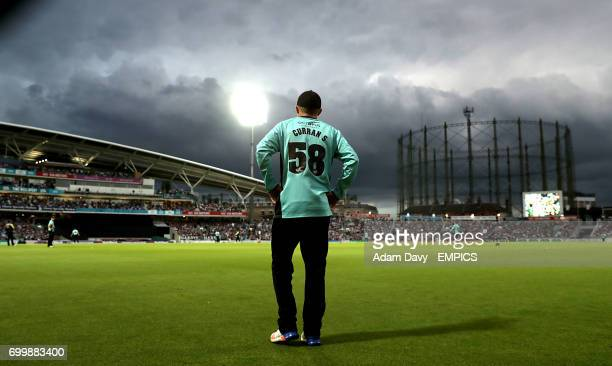 Surrey's Sam Curran looks out over the pitch