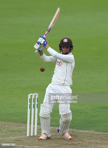 Surrey's Sam Curran on a way to a score of 17