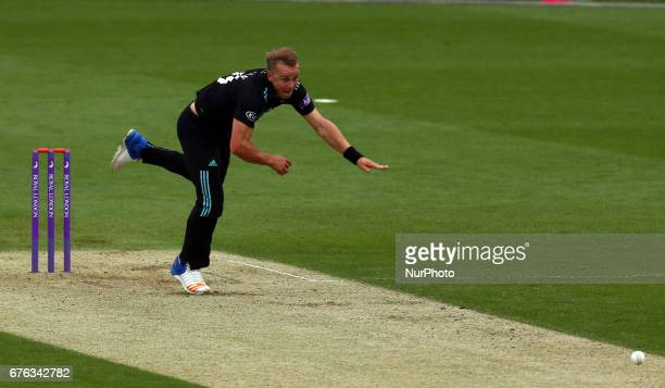 Surrey's Tom Curran during Royal London OneDay Cup match between Surrey CCC and Essex CCC at The Kia Oval London on 4 May 2017