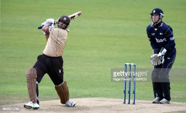 Surrey's Usman Afzaal and Durham's Phillip Mustard