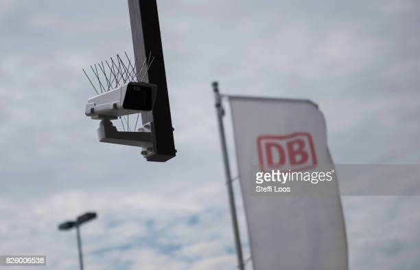 A surveillance camera which is part of facial recognition technology test is seen at Berlin Suedkreuz station on August 3 2017 in Berlin Germany The...