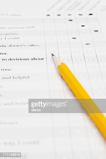 Survey Questionnaire With Ovals Text Pencil And Words Strongly