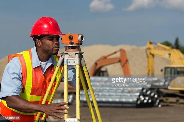 Surveyor at Site