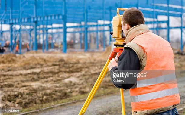 Surveyor at work