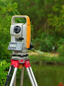 Surveyor, Equipment, Land, Blue, Cartography