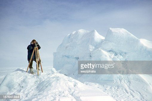 Surveyor in the Arctic