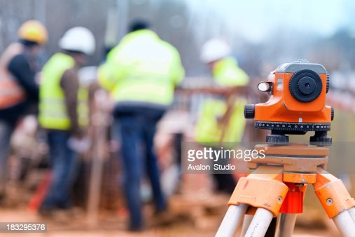 Surveyors and construction site