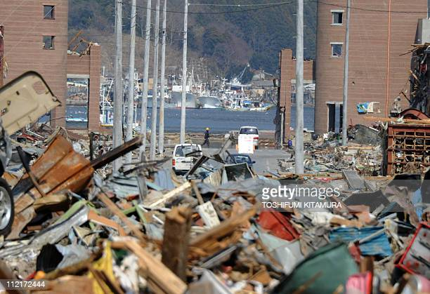 Surviving fishing boats are moored at the port in Onagawa town Miyagi prefecture on April 14 2011 Japan's seismologists were so entrenched in...