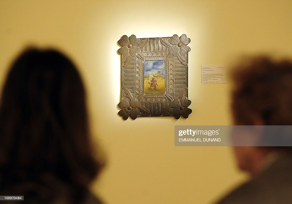'Survivor' by Frida Kahlo is on display during a preview of Christie's Latin American Art auctions, May 24, 2010 in New York. Christie's will hold its Latin American Art auctions on May 26 and 27, 2010. AFP PHOTO/Emmanuel Dunand