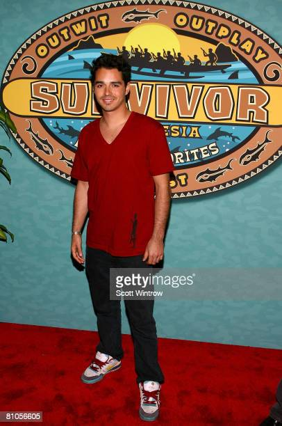 Survivor contestant Ozzy Lusth attends the Survivor Micronesia Finale and Reunion Show at the Ed Sullivan Theater on May 11 2008 in New York City