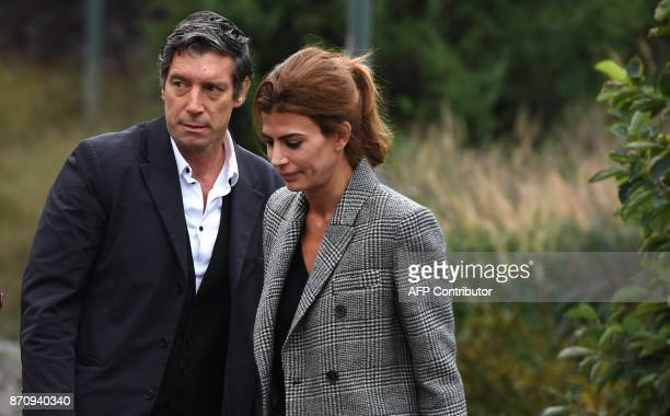Survivor Guillermo Banchini along with the First Lady of Argentina Juliana Awada attend a tribute to victims of the bike path terror attack in New...