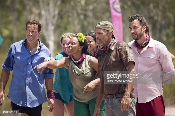 'Survivor MacGyver' Andrew Savage Kass McQuillenTasha Fox Monica Padilla Keith Nale and Stephen Fishbach during the second episode of SURVIVOR...