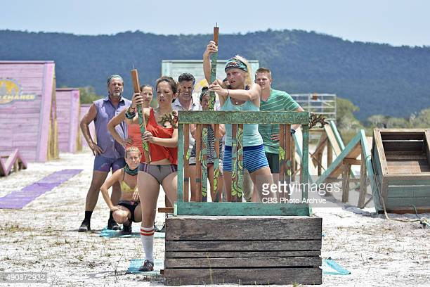 'Survivor MacGyver' Jeff Varner AbiMaria Gomes Kelly Wiglesworth PeihGee Law Terry Deitz Kelley Wentworth and Spencer Bledsoe during the second...