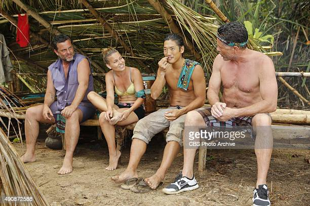 'Survivor MacGyver' Jeff Varner AbiMaria Gomes Woo Hwang and Terry Deitz during the second episode of SURVIVOR Wednesday Sept 30 The new season in...