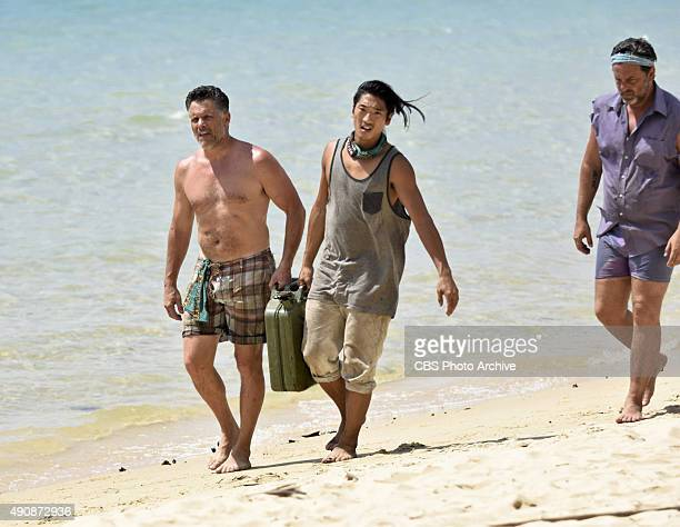'Survivor MacGyver' Terry Deitz Woo Hwang and Jeff Varner during the second episode of SURVIVOR Wednesday Sept 30 The new season in Cambodia themed...